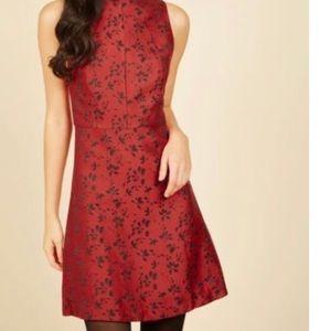 Kensie Red and Black Beautiful Beginnings Dress.